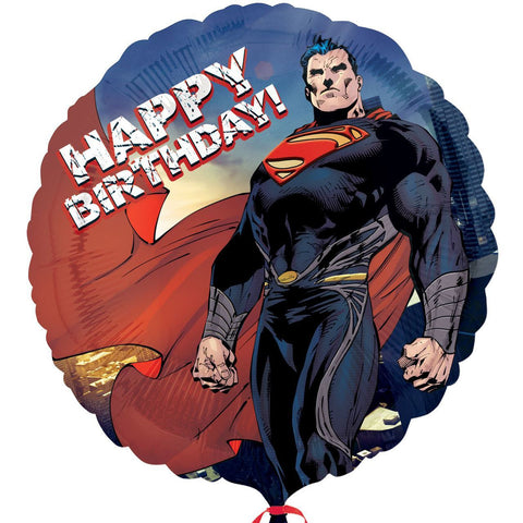 "18"" Superman Man Of Steel Foil Balloon"