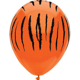 "11"" Round Tiger Stripes Latex Balloons"