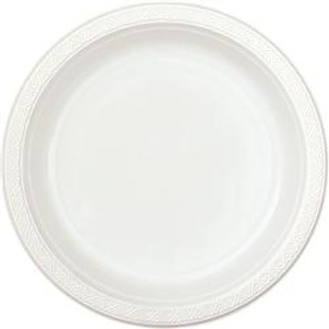 White 7 inches White Plastic Plates - nyea's Party Store