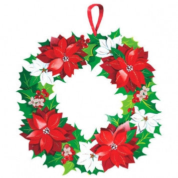 Christmas Paper Wreath - nyea's Party Store