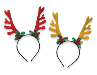 Christmas Headband with Antlers - nyea's Party Store