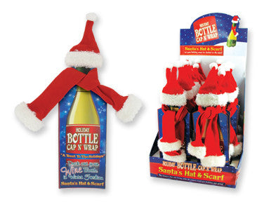 Christmas Wine Bottle Scarf/Hat - nyea's Party Store
