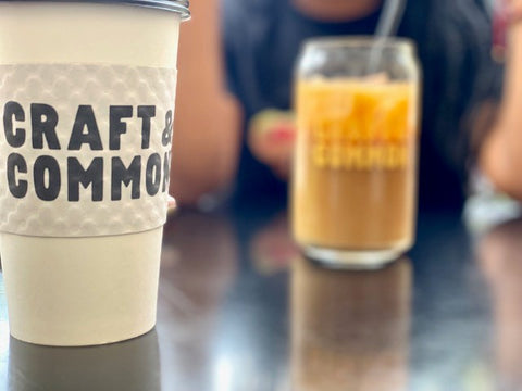 Craft and common coffee cups