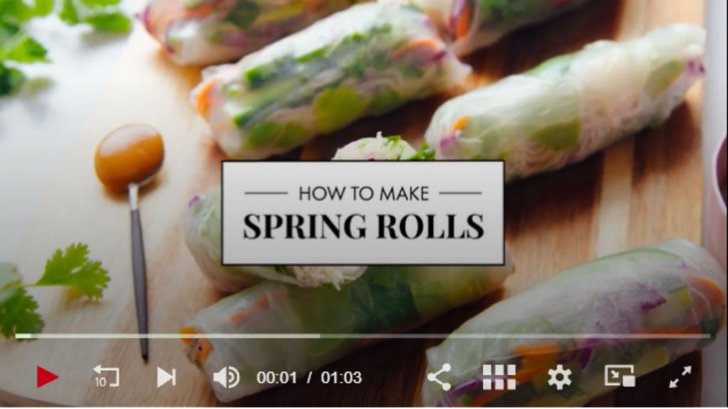 A step by step guide to Cookie and Kate's Fresh Spring Rolls with Peanut Sauce