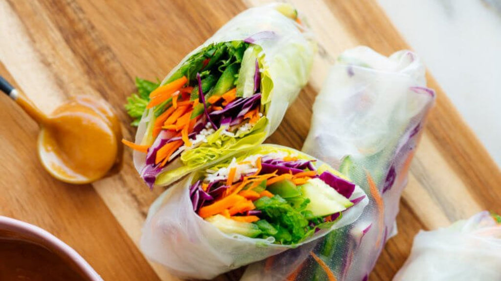 Cookie and Kate's Fresh Spring Rolls with Peanut Sauce