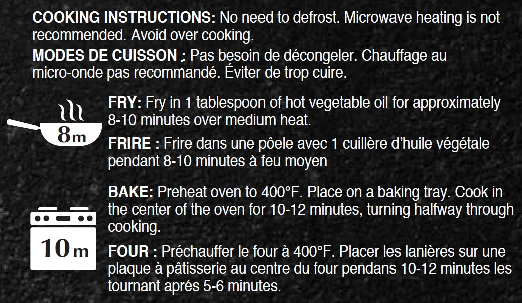 Cooking Instructions