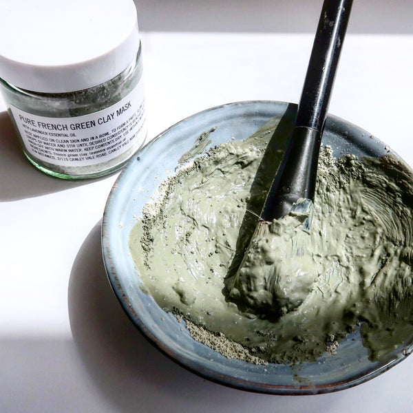 TIP: CLEAN YOUR BRUSHES WITH LEFTOVER CLAY MASK MIXTURE OR NATURAL SOAP