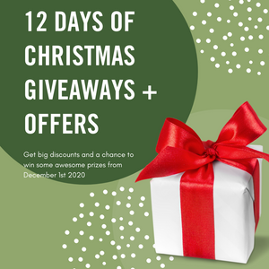 OUR ANNUAL 12 DAYS OF CHRISTMAS GIVEAWAYS AND OFFERS 2020