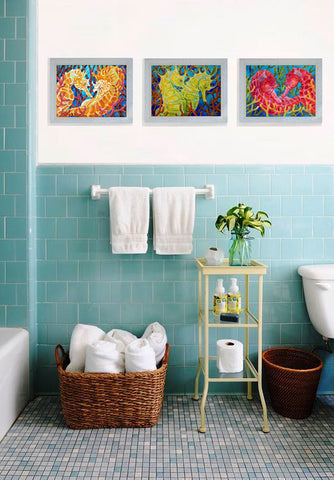 Coastal Bathroom with Seahorse Collection