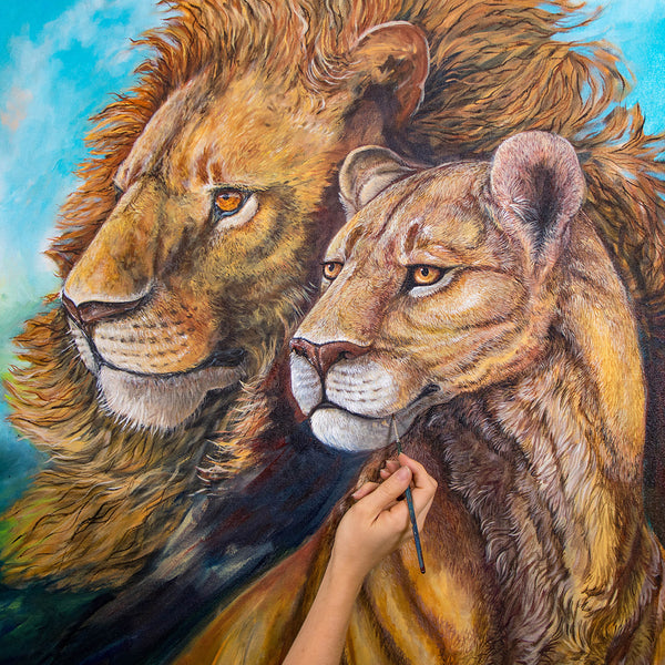 African Lions by Kelly Quinn