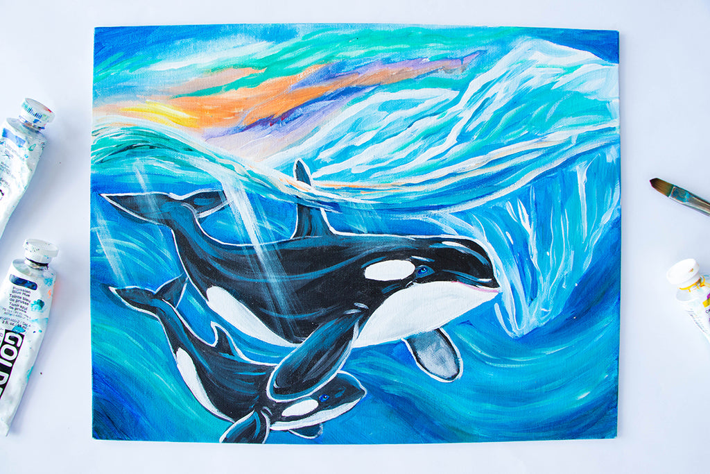 Orca's in the Arctic