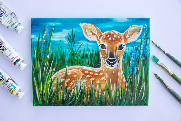 Fawn in Grass