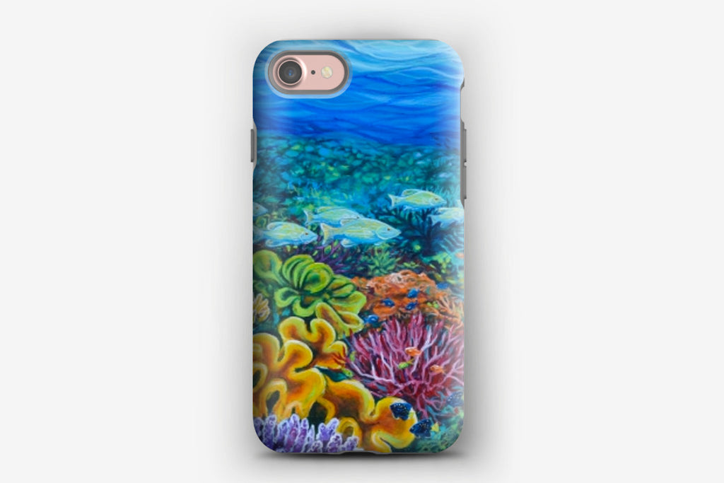 iPhone Tough Case - Coral Meadows