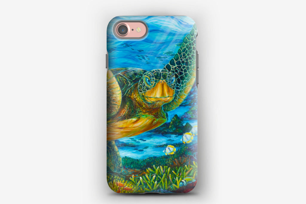iPhone Tough Case - Green Sea Turtle
