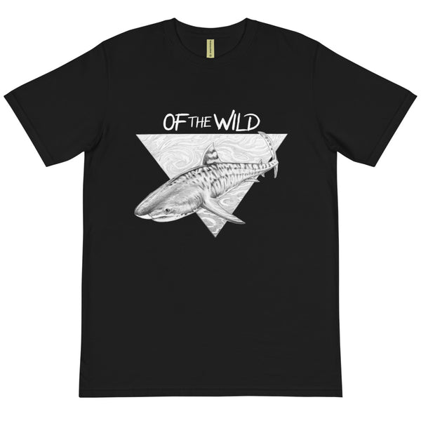 Tiger Shark, Organic Tee - Unisex (Black)