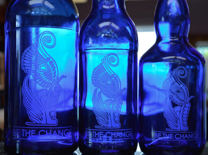 Blue Glass Bottles - Available in our Marketplace