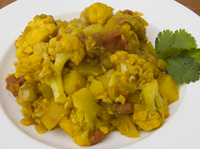 Aloo Gobi (Potato and Cauliflower) from Bharata Surya