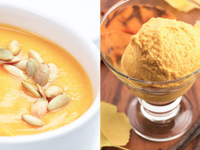 Pumpkin Soup & Pumpkin Ice Cream from the Sivananda Ashram