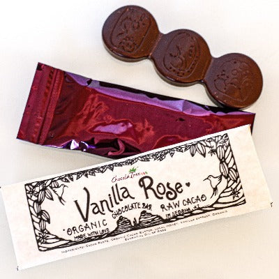ChocolaTree Vanilla Rose Chocolate Bar