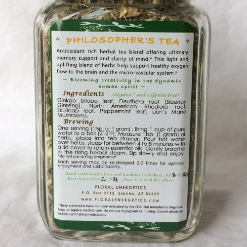 Floral Energetics Philosopher's Tea