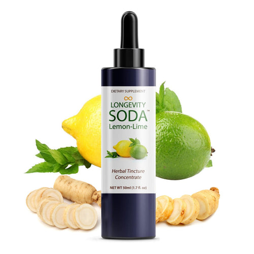 Longevity Warehouse, Herbal Soda, Lemon-Lime, 50ml