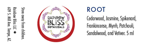Rainbow Bliss Botanicals, Aromatherapy, Root Chakra, 5ml