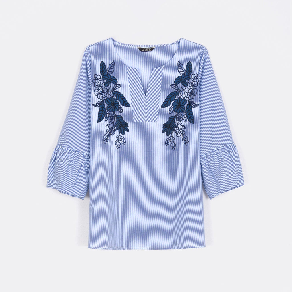 Embroidered Chest Top