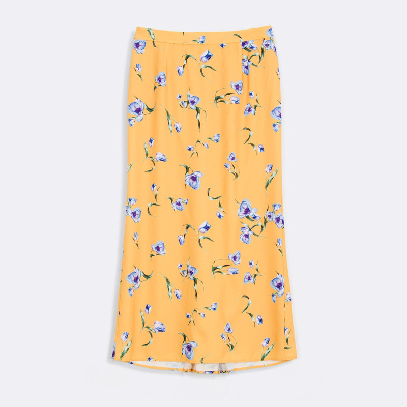 Printed Back Pleated Skirt