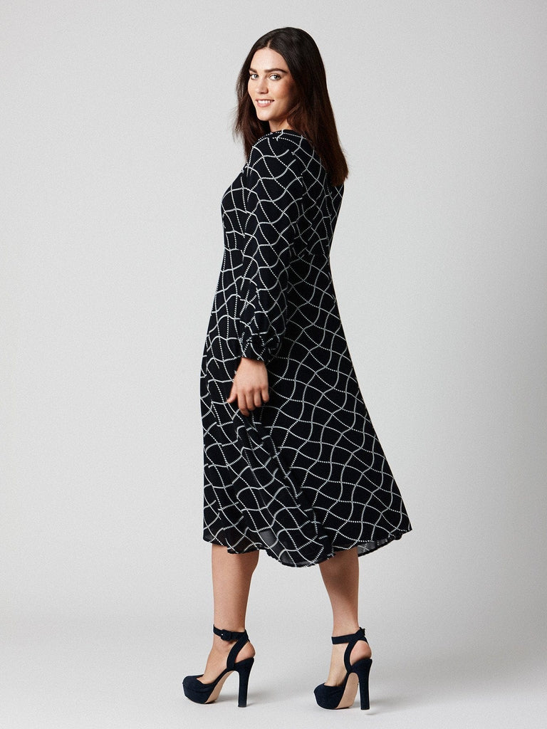 MIDI PRINTED DRESS (SIZE 16 ONLY)