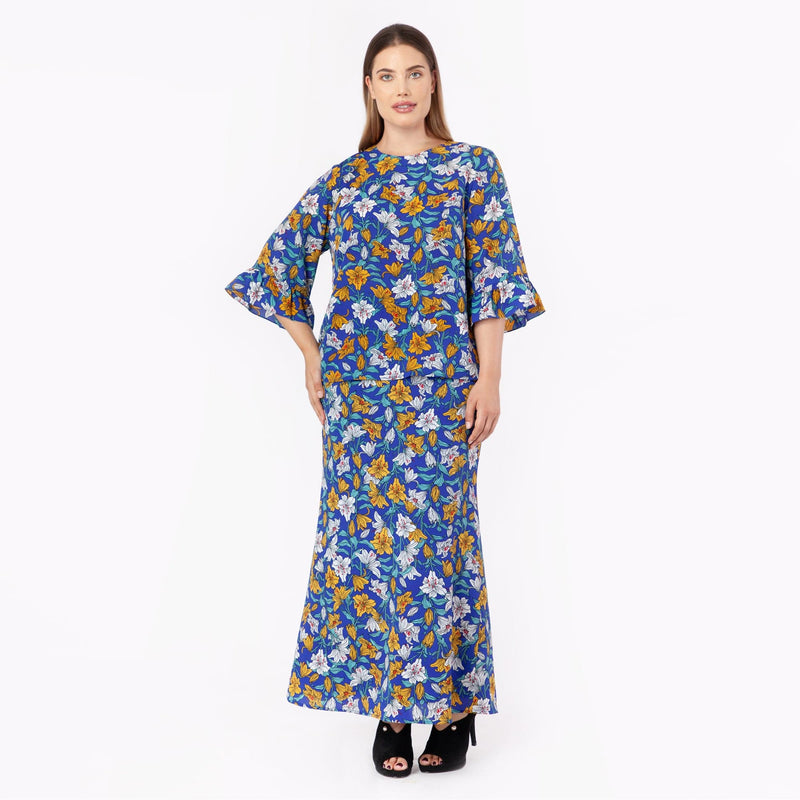 MS. READ | Floral Printed Top | Raya Collection 2019, Baju Kurung, Fesyen Raya 20...