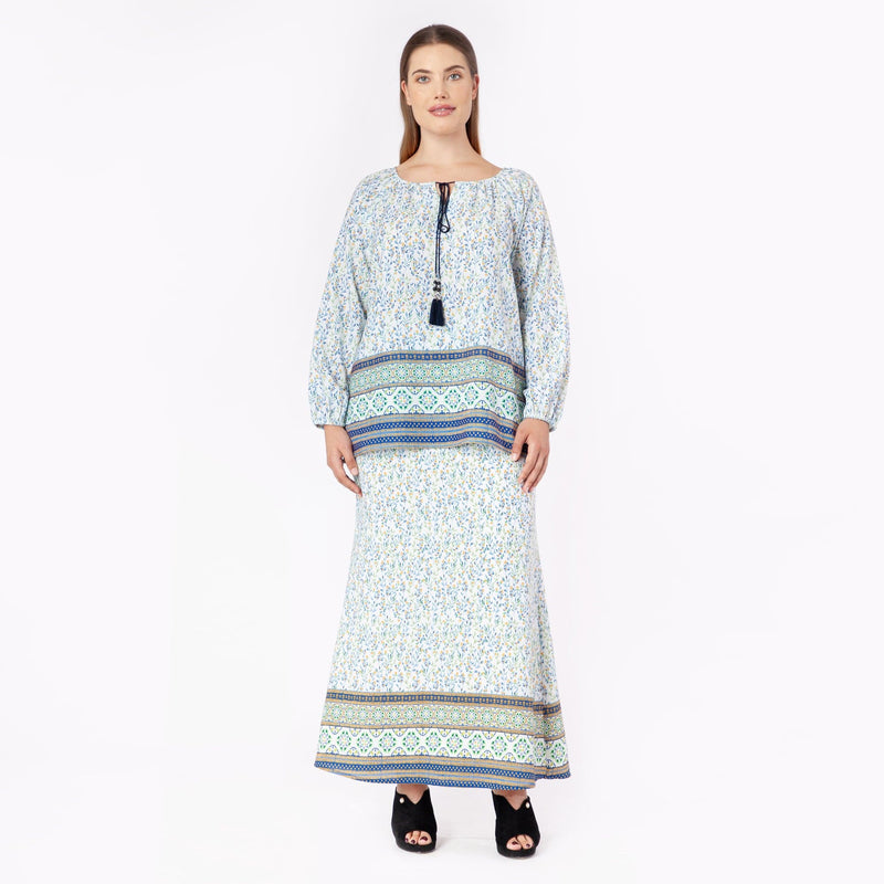 MS. READ Printed Boho Top | Raya Collection 2019, Baju Kurung, Fesyen Raya 2019, Baju Raya