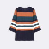 Three Quarter Sleeve Stripe Top