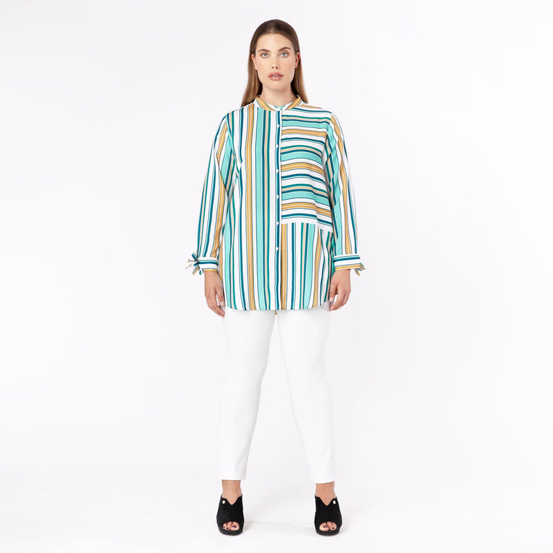 Long Line Stripe Shirt