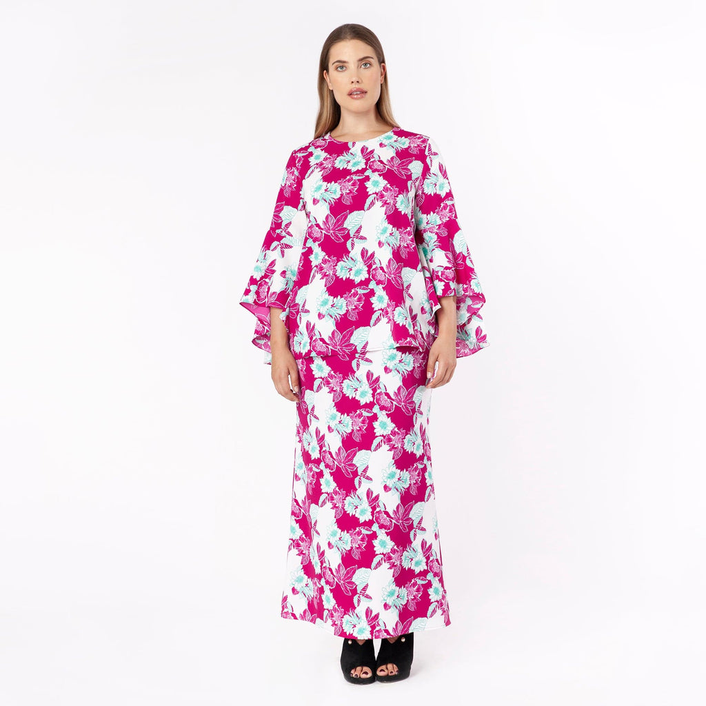MS. READ | Printed Tiered Godet Skirt | Raya Collection 2019, Baju Kurung, Fesyen Raya 2019, Baju Raya