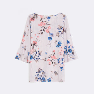 Printed Bell Sleeve Top (Size 16 & 18)