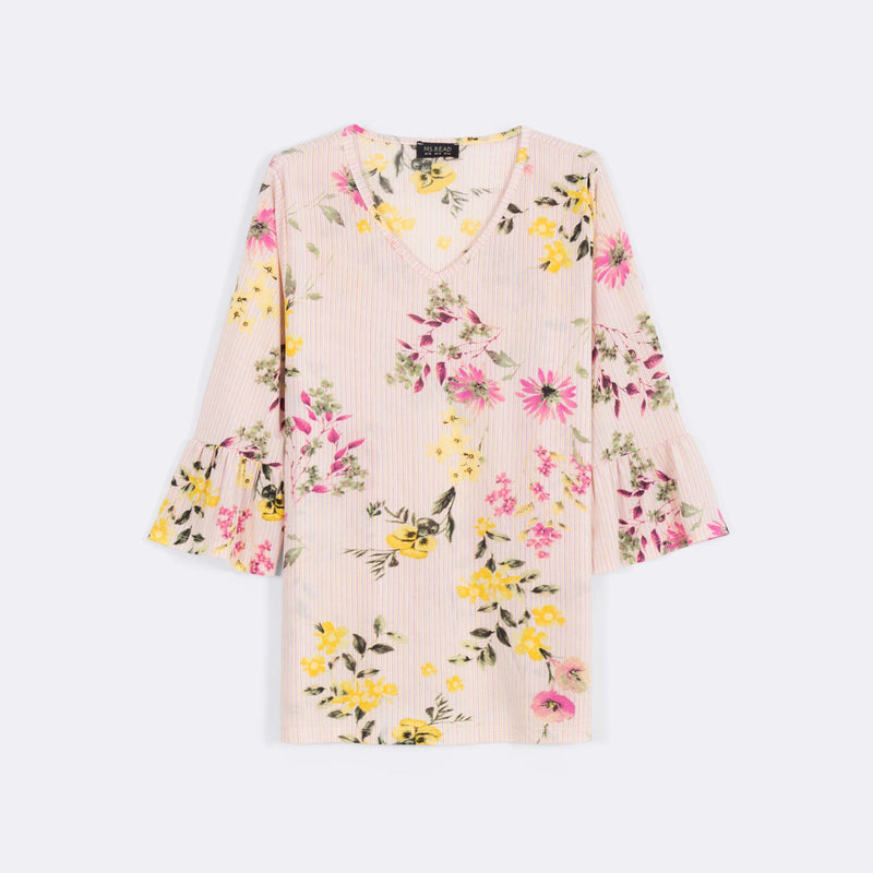 Printed Bell Sleeve Top (Size 20 & 22)