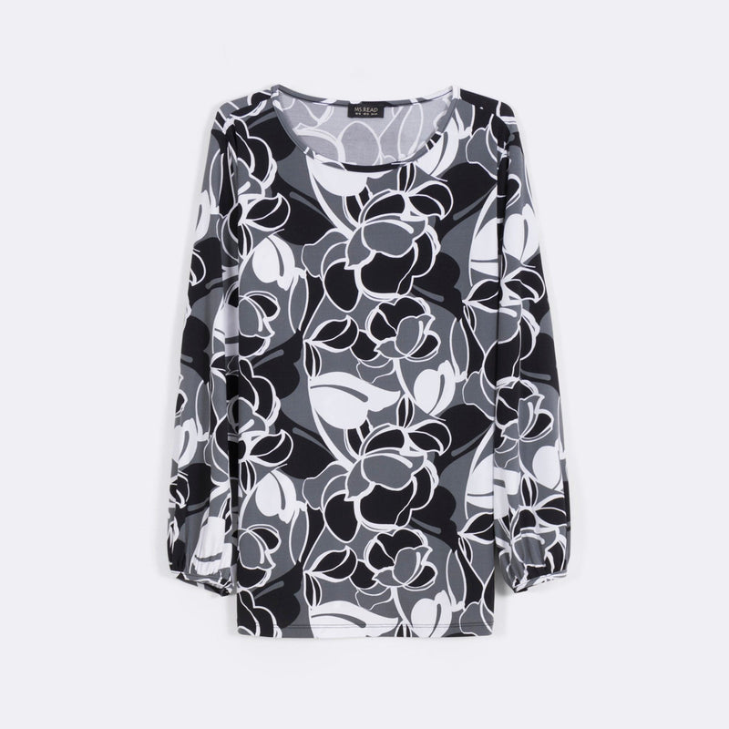 Printed Puffed Sleeve Top