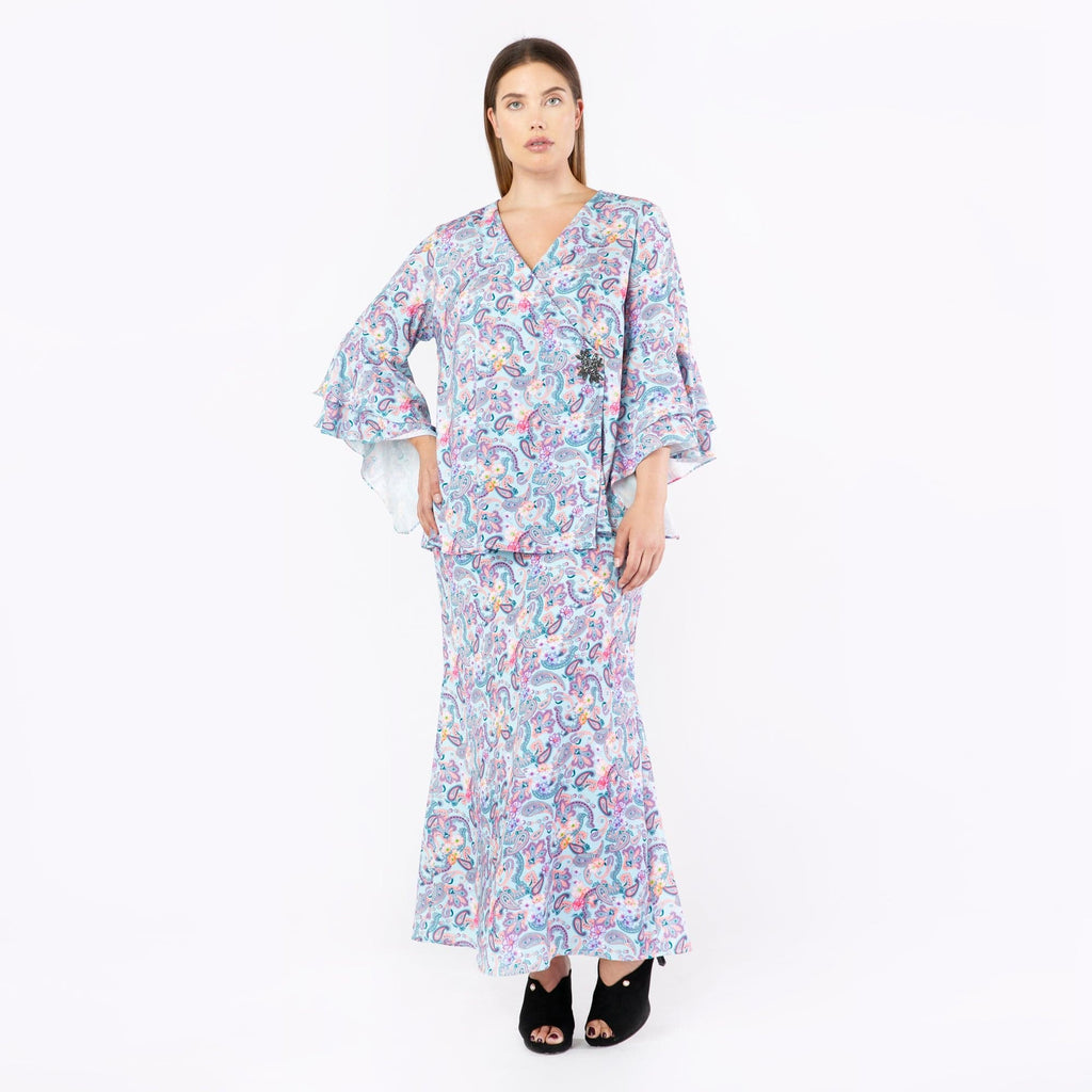 MS. READ, Paisley Overlap Top, Raya Collection, Baju Kurung, Fesyen, Baju Raya