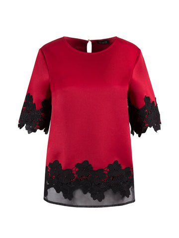 TOP WITH LACE HEM