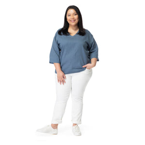 Linen Dolman Sleeve Top