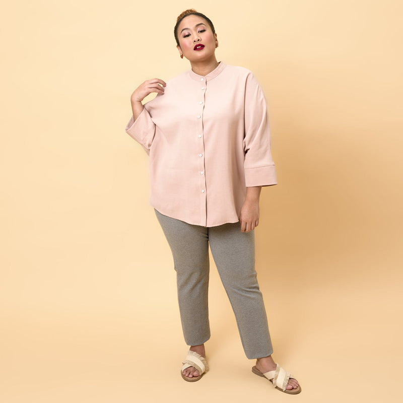 Nehru Collar Dolman Top