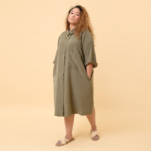 Three Quarter Sleeve Collared Tunic