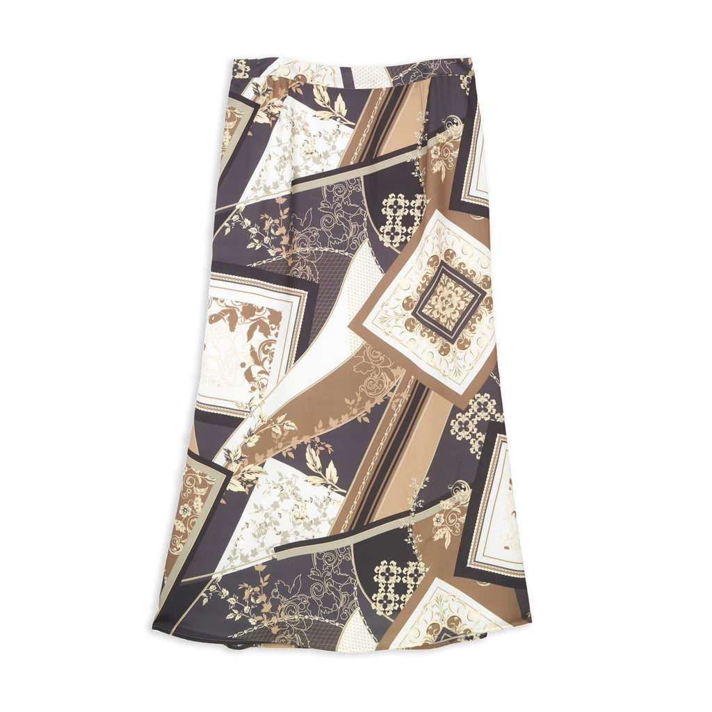 Printed Fit And Flare Skirt