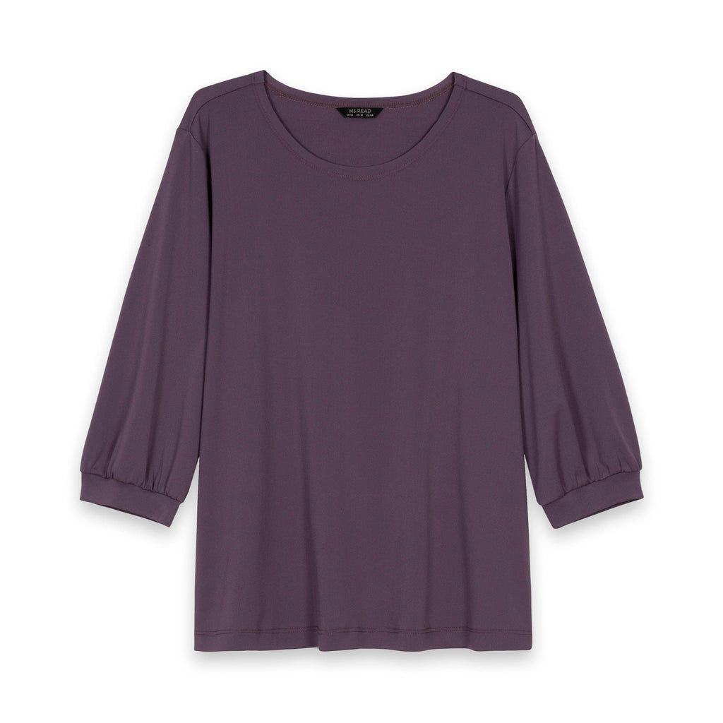 Essential Round Neck Puff Sleeve Top