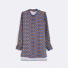 Printed Nehru Collared Shirt