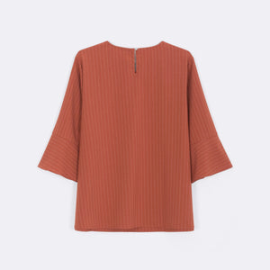 Stripe Frilled Sleeve Top