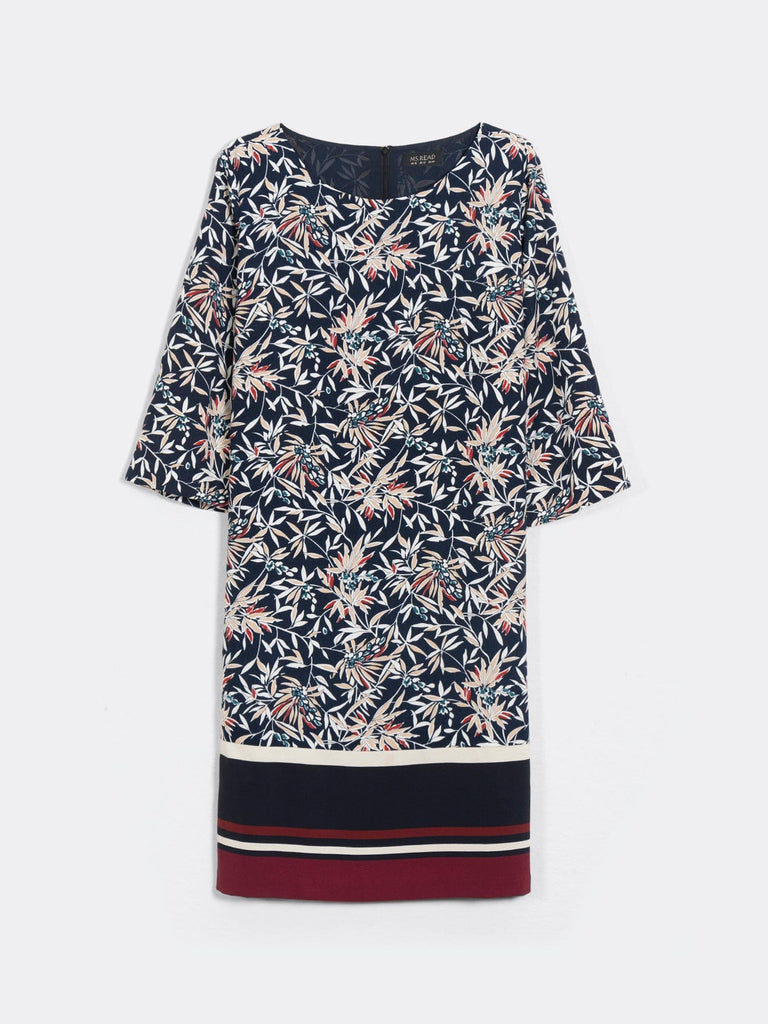 BORDER SHIFT DRESS