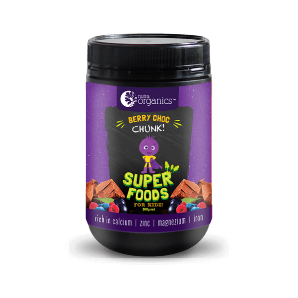 Nutraorganics Berry Choc Chunk Superfoods Powder for Kids