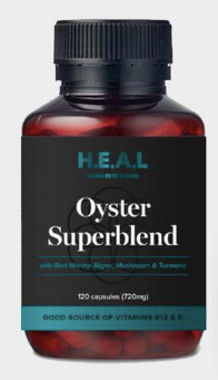 Oyster Superblend - H.E.A.L by Pete Evans 120 caps