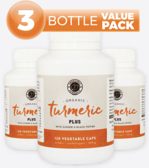 THERAPEIA AUSTRALIA Organic Turmeric Plus 660mg 120 Capsules (3 bottle value pack)